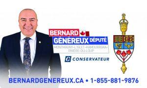 Bernard Généreux, député Montmagny-L'Islet-Kamouraska-Rivière-du-Loup